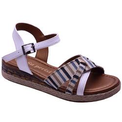 Ayakkabiburada - Ayakkabiburada 45 Rahat Bilekli Günlük Kadın Sandalet