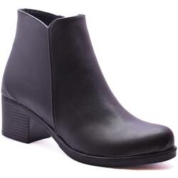 Ayakkabiburada - Ayakkabiburada 503 Günlük Kadın Kısa Topuklu Bot Ayakkabı