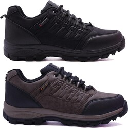Ayakkabiburada - Ayakkabiburada X2 Ortopedi Trekking Erkek Kısa Bot Ayakkabı