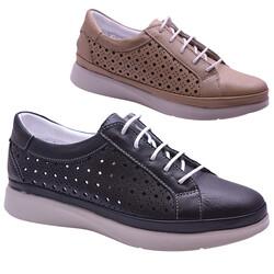 ISPARTALILAR - By HK 5263 Ortopedi Hakiki Deri Günlük Kadın Ayakkabı