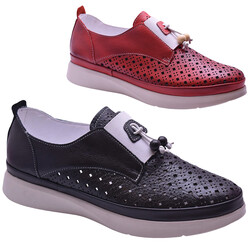 ISPARTALILAR - By HK 5265 Ortopedi Hakiki Deri Günlük Kadın Ayakkabı