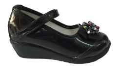 ISPARTALILAR - Emre Çocuk Kız Cırtlı Boncuklu Okul Ayakkabı
