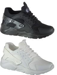 Diğer - Forza 18726 Siyah VE Beyaz Bayan Erkek Spor Ayakkabı (36-44)