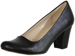 ISPARTALILAR - La Moor 102 Siyah Kısa Topuk Bayan Topuklu Ayakkabı (36-40)