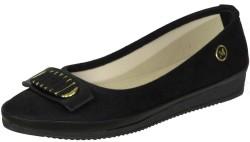 ISPARTALILAR - La Moor Ortopedi Rahat Günlük Bayan Siyah Babet Ayakkabı (36-40)