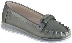 ISPARTALILAR - La Moor Rahat Günlük Bayan Gri Babet Ayakkabı (36-40)