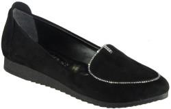 ISPARTALILAR - La Moor Rahat Nubuk Siyah Bayan Babet Ayakkabı (36-40)