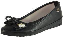ISPARTALILAR - La Moor Rahat Taban Cilt Siyah Bayan Babet Ayakkabı (36-40)