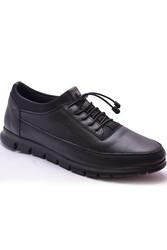 Ayakkabiburada - Ayakkabiburada 301 Ortopedi Topuk Masajlı Hakiki Deri Erkek Ayakkabı