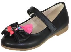 Vetta - Vetta Ortopedi Abiye Siyah Kız Çocuk Babet Ayakkabı (26-30)