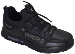 Jump - Wickers 2300 Suya Dayanıklı Ortopedi Siyah Erkek Spor Ayakkabı