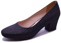 Witty - Witty 635 Rahat Siyah Topuklu Kadın Ayakkabı