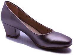Witty - Witty 637 Rahat Kısa Taban Gümüş Renk Topuklu Kadın Ayakkabı