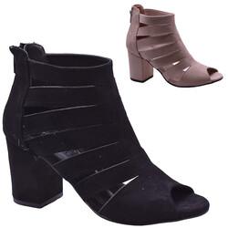 ISPARTALILAR - Witty 93 Kafes Kadın Topuklu Ayakkabı Sandalet (36-40)